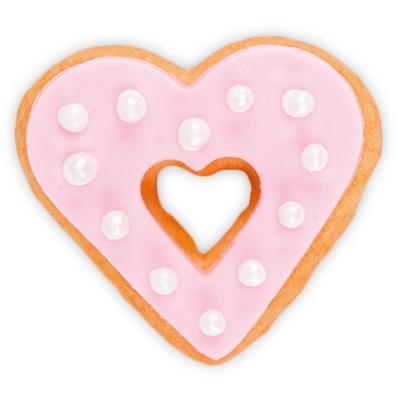 Tallador galetes cor doble 4 cm