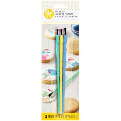 Set 3 pinzells decoració colors