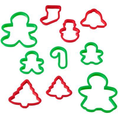 Set 10 talladors galetes plàstic Nadal