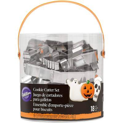 Set 18 talladors galetes metàl.lics Halloween