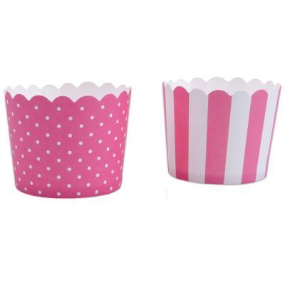 Motllos cupcakes cartró rosa x12