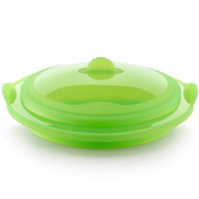 Vaporera silicona plegable transl.lúcida verd