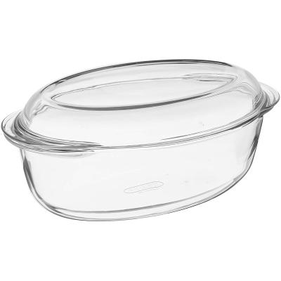 Cassola oval forn vidre Pyrex amb tapa 3 L