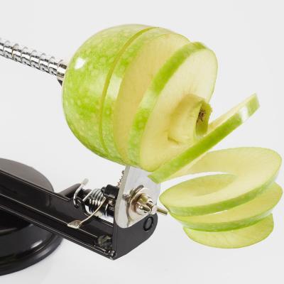 Pelador de pomes amb ventosa gris plata