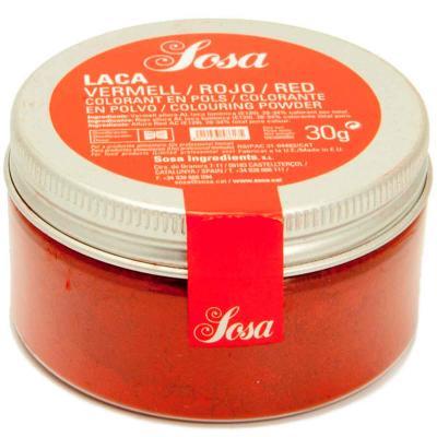 Colorant laca liposoluble pols 30 g vermell