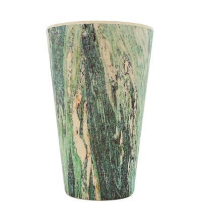 Tassa bambú amb tapa Ecoffee 400 ml Marmo Verd