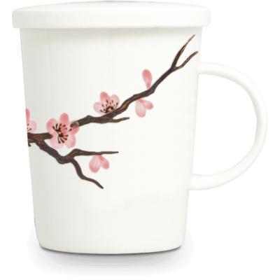 Tassa de te amb filtre flor Sakura