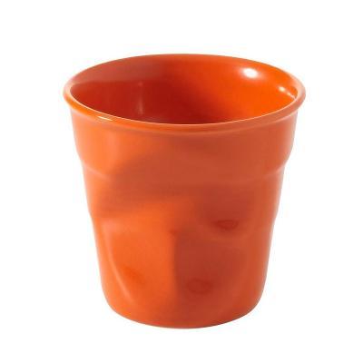 Tassa espresso arrugada Revol 80 ml taronja
