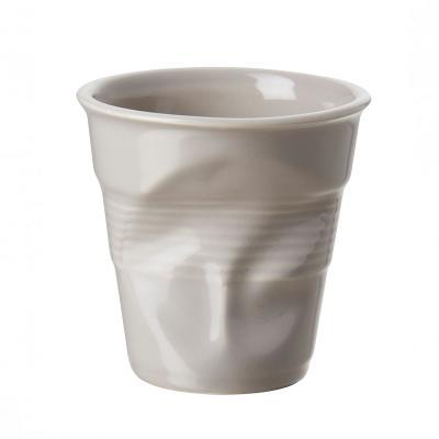 Tassa espresso arrugada Revol 80 ml taupe