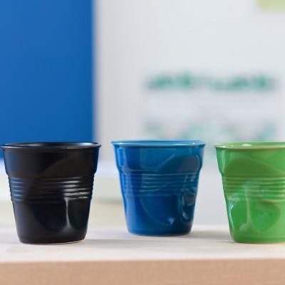 Tassa espresso arrugada Revol 80 ml blau ultramar