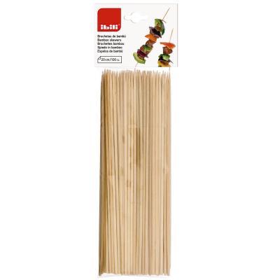 Set 100 broquetes bambú 20 cm