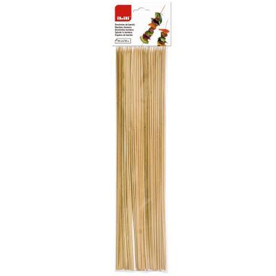 Set 50 broquetes bambú 30 cm