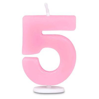 Espelma pastís aniversari nº 5