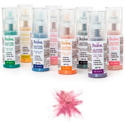 Spray pump comestible brillant 10 g rosa