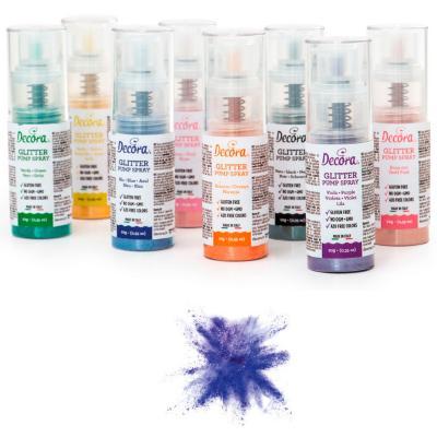 Spray pump comestible brillant 10 g violeta