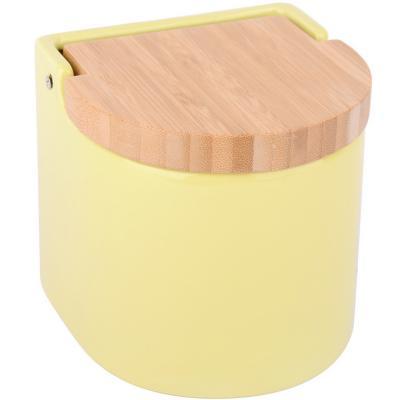 Salero de cocina con tapa bambú