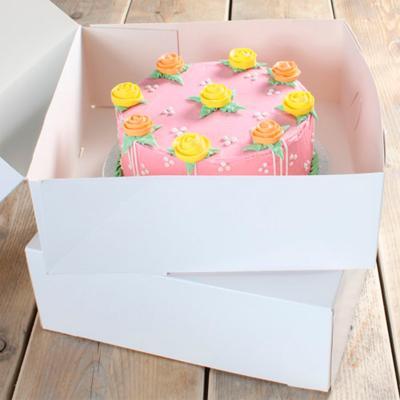 Set 2 caixes per pastissos blanca 32x32x11,5 cm