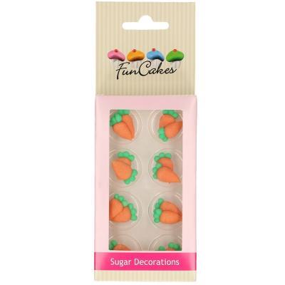 Set 16 decoracions de sucre Pastanagues