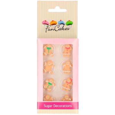 Set 8 decoracions de sucre Ninot gingebre