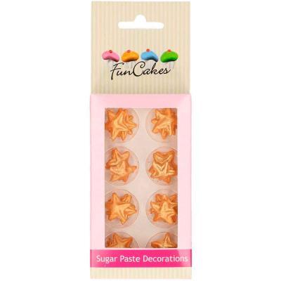 Set decoracions de sucre Estrelles daurades