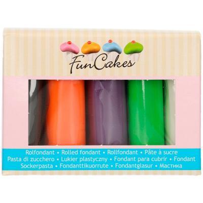 Set 5 fondants Funcakes 5x100 gr Halloween