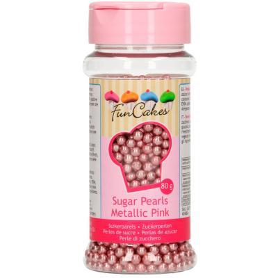 Sprinkles perles sucre 80 g rosa brillant