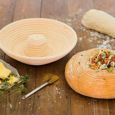 Banetton o cistell per fermentar pa rodó amb forat