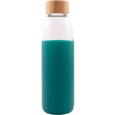 Botella cristal con banda silicona