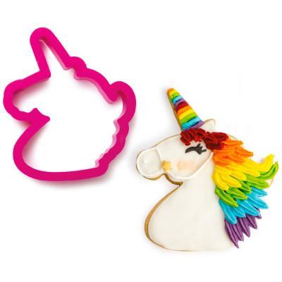 Tallador galetes plàstic Cap Unicorn