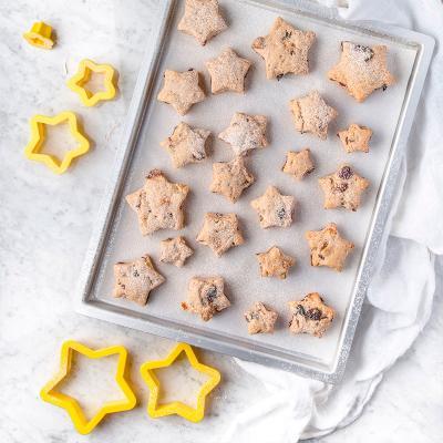 Set 5 talladors galetes Estrelles tamanys