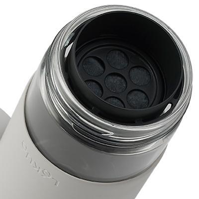 Ampolla amb filtre vidre Lekue 600 ml