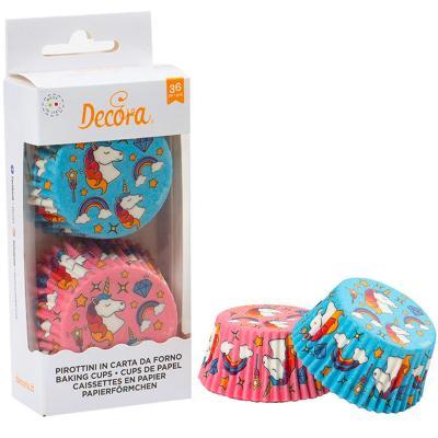 Paper cupcakes x36 Unicorn