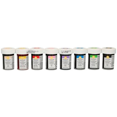 Set 8 colorants en pasta Wilton 8x 28 g