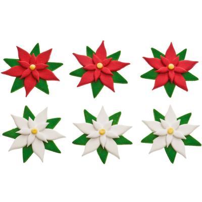 Set 6 decoracions de sucre Flors
