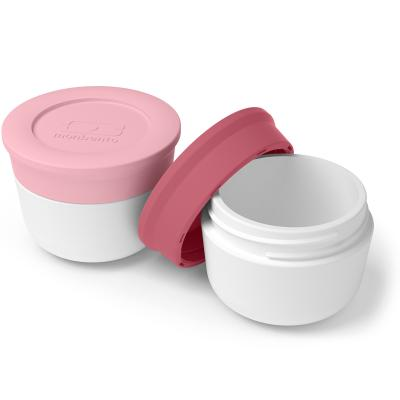 Set 2 pots condiments Bento litchi/blush
