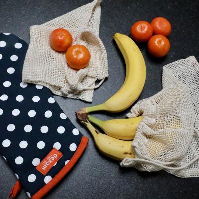 Set 3 bosses cotó orgànic compra fruita i verdura