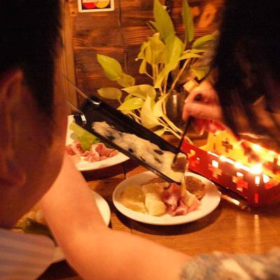 Mini raclette amb espelmes Heat Cheese