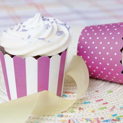 Motllos cupcakes cartró violeta x12
