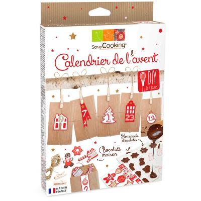Kit calendari advent nadal transfers xocolata