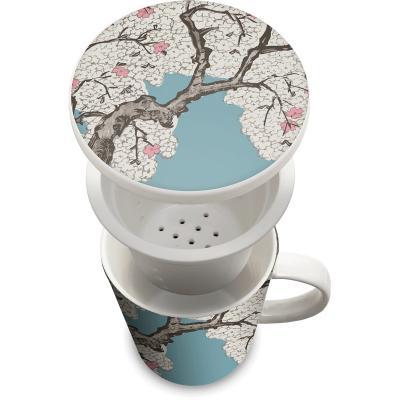 Tassa de te amb filtre arbre Sakura