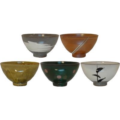 Set 5 bols japonesos Natural 10,5 cm