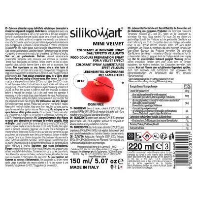 Spray alimentari efecte vellut 150 ml vermell