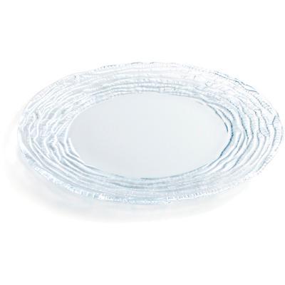 Plat presentació vidre glass 27 cm