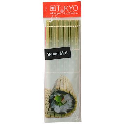 Esterilla sushi bambú 27x27 cm