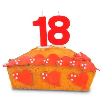 Espelma pastís aniversari nº 8