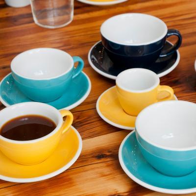 Plat tassa cafè espresso barista