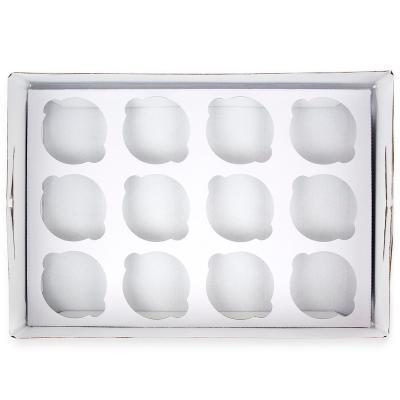 Caixa per 12 cupcakes blanca h 9cm PME