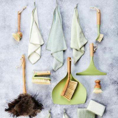 Set 2 Draps de cuina fibra de bambú verd i blanc
