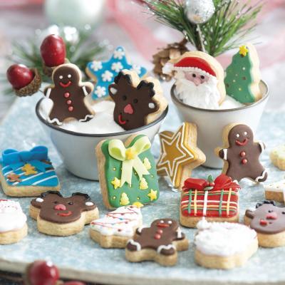 Set 6 mini talladors galetes plàstic Nadal