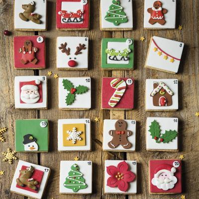 Set 6 decoracions de sucre Pare Noel